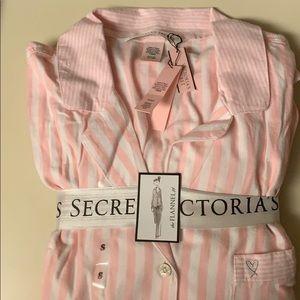 Victoria Secret PJ - Flannel - Pink Stripe -Sm